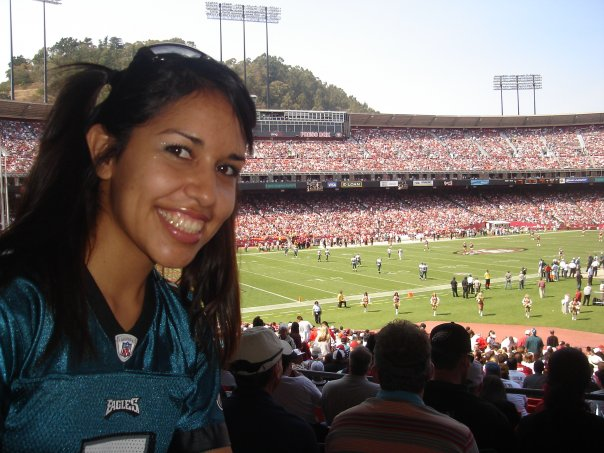 My very first Eagles game!!! @ 49ers stadium