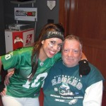 He did my face paint for the game!! One Eagle on each cheek :-)