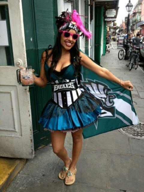 On Bourbon Street for Eagles vs Saints